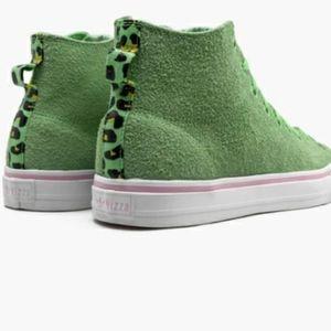 Adidas NIZZA GREEN Leopard High Top Sneakers RFS